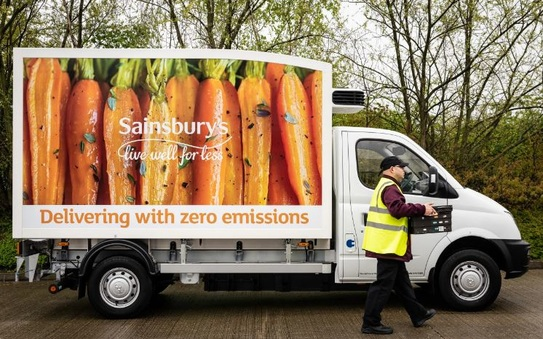 Sainsbury S Trials Electric Vans For Home Deliveries